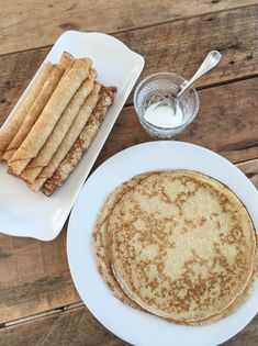Thin Pancakes, Baked Pancakes, Crepe Batter, Crepe Pan, Jam On, Bread Baking, Crepes, Scones, Deserts