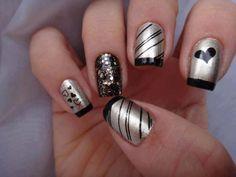 175 Diseños de Uñas Decoradas Pies y Manos Modelos 2018 Bling Nails, My Nails, Contemporary Fashion, Nail Arts, Nail Inspo, Christmas Nails, Nail Colors, Nail Designs, Rings For Men