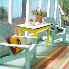 Compainted Outdoor Furniture : colorful painted outdoor furniture  Colorful Outdoor Furniture on ...