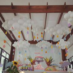 Create and Decorate: Washi Tape Ideas Rainbow Birthday Party, 1st Birthday Girls, Unicorn Birthday Parties, Unicorn Party, Balloon Decorations, Birthday Party Decorations, Baby Shower Decorations, Cloud Party, Deco Baby Shower