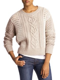 Patchwork Pullover Sweater  by RD Style