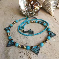 Santorini Brass Necklace