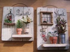 Different Ways How To Decorate Floating Shelves in Your House Diy Projects To Try, Wood Projects, Diy Arts And Crafts, Diy Crafts, Deco Zen, Driftwood Crafts, Home And Deco, Miniature Furniture, Flower Wall