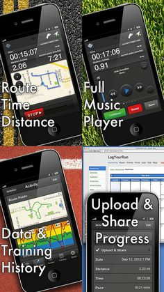 Cost: $1.99 About: Track your distance, route, pace, and calories burned. Choose a playlist already on your phone or use the app to quickly create a new playlist. You can easily slide the screen and toggle between the music player, the map, and your distance and pace, but you might find it annoying and prefer all the info to be on one screen. One nice feature is voice feedback at the intervals you specify, such as at every half mile, so you can enjoy the scenery without having to keep ...