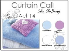Stacey's Stamping Stage: Curtain Call Color Challenge: Act 14. Bashful Blue, Orchid Opulence, Almost Amethyst, White