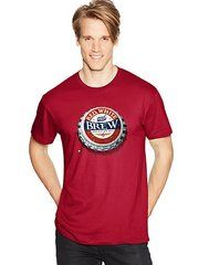 Hanes Men's RED, WHITE and BREW Graphic Tee (in Sizes Small - 3XL)