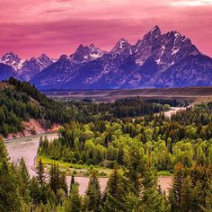 Grand Teton National Park, taken from the Snake River Overlook, Wyoming