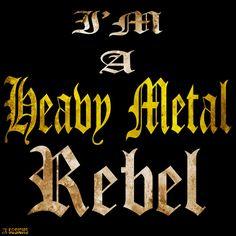 Mijn T-shirt-prints: Heavy Metal Rebel