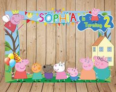 Peppa Pig is a United kingdom toddler cartoon telly sequence directed and generated by Astley 4th Birthday Parties, Birthday Party Decorations, 3rd Birthday, Special Birthday, Birthday Backdrop, Aniversario Peppa Pig, Cumple Peppa Pig, Peppa Pig Birthday Cake, Birthday Frames