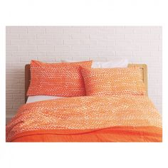 NOAH Orange triangle print double duvet cover set   Buy now at Habitat UK
