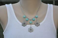 Bubble necklace/ Statement necklace/ Bib by HopefuleeYours on Etsy, $25.00
