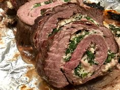 Spinach & Cheese stuffed Flank Steak