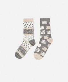 2-pack sheep print socks - OYSHO