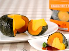 JAPANESE STYLE PUDDING :   KODAMA KABOCHA NO YAKI PURIN / YELLOW PUMPKIN