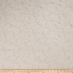 Fabricut Musketeer Linen from @fabricdotcom  This beautiful lightweight fabric features a leaves embroidery throughout. Perfect for draperies, swags, duvet covers, shams, toss pillows, and light upholstery projects.