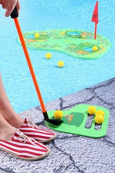 Floating Golf Pool Game..My son would love this!