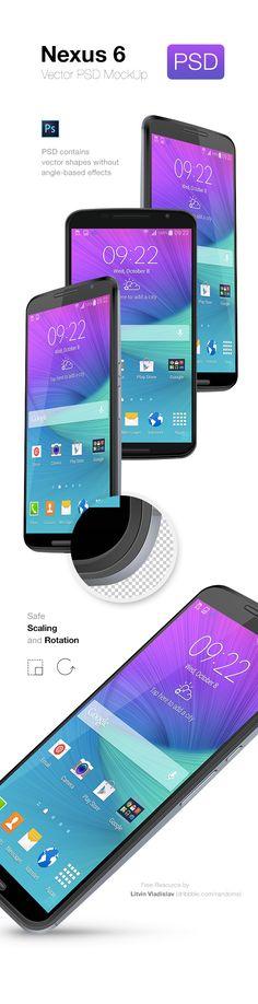 Nexus 6 PSD MockUp | GraphicBurger