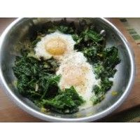 Poached Eggs, Spinach, Walnuts with Blood Orange Olive Oil Recipe