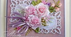 Размер 14,5 х 11,5 см Mom Cards, Mothers Day Cards, Wedding Anniversary Cards, Wedding Cards, Flower Cards, Paper Flowers, Scrapbook Cards, Scrapbooking, Shabby Chic Cards