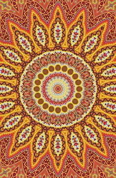 "⊰❁⊱ Mandala ⊰❁⊱ the ""fountain-of-everlasting-and-ever-expanding-love""' Hippie Art, Psychedelic Art, Fractal Art, Sacred Geometry, Trippy, Wall Collage, Aesthetic Wallpapers, Wallpaper Backgrounds, Artsy"