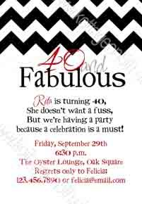 264 best birthday party invitations images on pinterest adult fabulous chevron 40th birthday party invitation or any age digital printable file filmwisefo