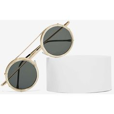 Spitfire Sonic Circle Shades (70 BGN) ❤ liked on Polyvore featuring accessories, eyewear, sunglasses, gold, round circle sunglasses, circular sunglasses, round sunglasses, oakley sunglasses and circle sunglasses