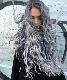 Cachos platinados/ cabelo prata/ granny hair