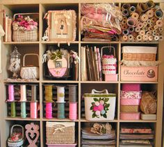 My Craft Room by andrea singarella, via Flickr  I would die to have a craft room that looked this great....I have 1700 sq ft of mess...LOL