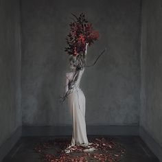 passing time in room #9, by Brooke Shaden.  Model: Katie Johnson