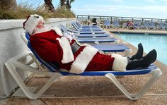 Even Santa takes a vacation sometimes!