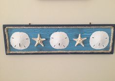Sand Dollar and  Knobby Starfish Wood Wall by SeaToLandDesigns