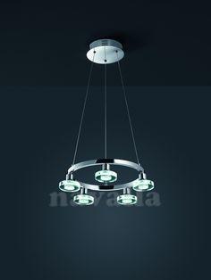 Moderný a elegantný luster TRIO Disc - LED osvetlenie - perfektný výber