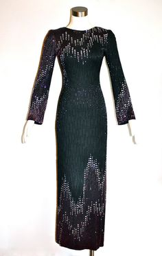 Vintage BOB MACKIE Gown Couture Original 70's Heavily Beaded ...Uploaded By www.1stand2ndtimearound.etsy.com