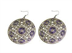 A Pair of Indian Girls Floral Design White Metal Earrings Fashion Jewelry KMFE_850 Krishna Mart India http://www.amazon.com/dp/B017IQSIPM/ref=cm_sw_r_pi_dp_uW.xwb0AKY84J