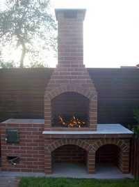 Gratar de gradina din caramida Kitchen Design, Grilling, Pergola, Alfresco Ideas, Garden, Travel, Barbecues, Image, Storage Ideas