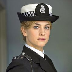 New leading lady: Stefanie Martini plays the tenacious detective Jane Tennison first brought to life by Dame Helen Mirren Police Uniforms, Girls Uniforms, British Actresses, Hollywood Actresses, Hellen Miren, Martini, Beautiful Legs, Beautiful Women, Military Women