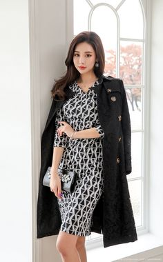Korean Fashion – How to Dress up Korean Style – Designer Fashion Tips Korean Fashion Trends, Korean Street Fashion, Fashion Styles, Shirred Dress, Korean Women, Everyday Outfits, Asian Beauty, Editorial Fashion, Dress Up