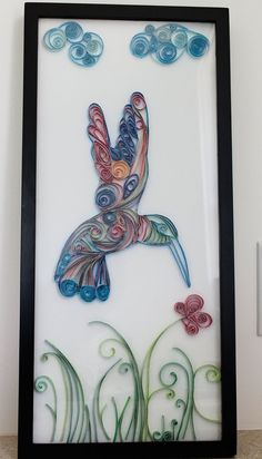 Quilled Paper Hummingbird