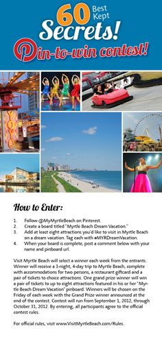 Enter the Visit Myrtle Beach Pin to Win Contest for a chance to win a free trip to the Myrtle Beach area! #MYRDreamVacation