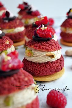French Desserts, Mini Desserts, Just Desserts, Delicious Desserts, Bakery Recipes, Dessert Recipes, Dessert Original, Choux Pastry, My Best Recipe