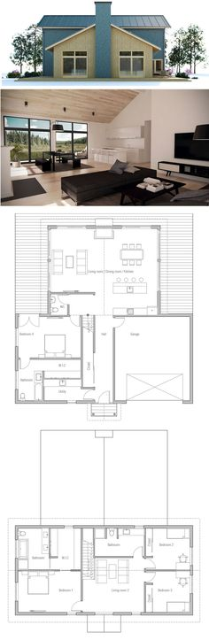 Architecture, Large house plan