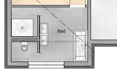 T Wand Im Bad Installationen In 2020 Badezimmer T Wand Bad Grundriss Badezimmer Grundriss