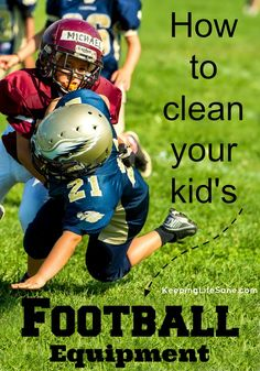 Yes, boys sweat a lot! You need to make sure that you have clean football equipment or you will have some gross pads laying around. Football Pads, Football Love, Football Players, Football Helmets, Football Season, College Football, Alabama Football, American Football, Football Rooms