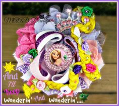 Rapunzel, Rapunzel hair bow, Tangled, disney, disney hair bow, disney movie, accessories, bow, hair bow, big hair bow, stacked hair bows, ott bows, over the top hair bow, accessories, shop with attitude, MAAD Bowtique