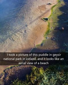 Not a beach. Dress Picture, Brain Teasers, Aerial View, Park, Beach, Water, Outdoor, Gripe Water, Outdoors