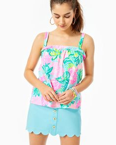 Pineapple Shake, Workout Tank Tops, Cotton Spandex, Lilly Pulitzer, Swimsuits, Classy, Stylish, Shopping, Collection