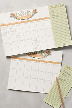 Grocery and Meal Planner - anthropologie.com