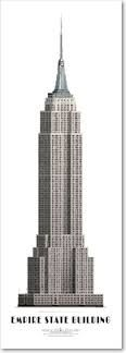 Related image Burj Khalifa, Willis Tower, Empire State Building, New York City, Skyscraper, Architecture, World, Prints, Poster