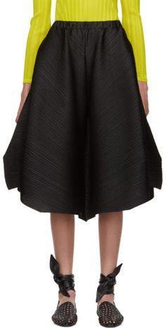 e5045ef15 Pleats Please Issey Miyake Black Pleated Cross Grain Trousers Trousers,  Pants, Skirts, Black