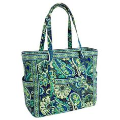 Vera Bradley Get Carried Away Tote in Rhythm and Blues